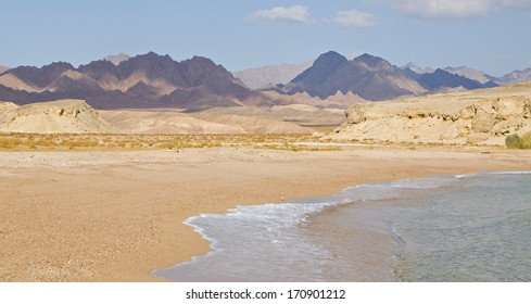 View of Ras Mohammed in the red sea Egypt