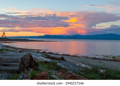View from Rathtrevor Park looking East, Parksville, BC, Canada