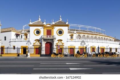 View of Real Maestranza de Caballeria de Sevilla, in Seville, Spain