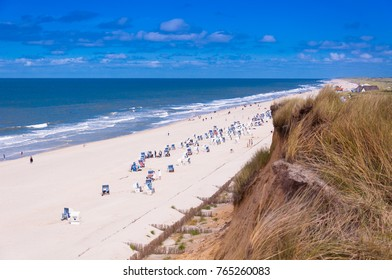 View from the red cliff on the island of Sylt, Germany
