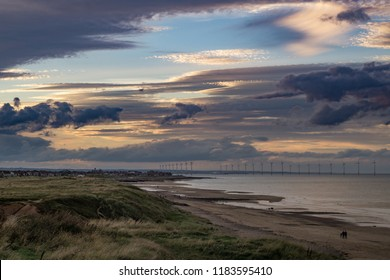 View of Redcar from Marske beach.