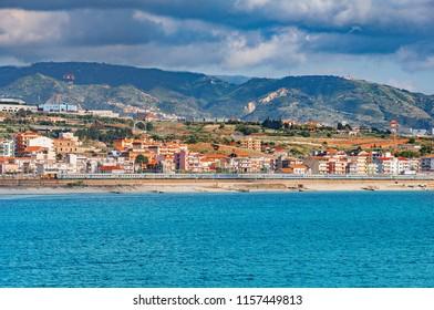 View of Reggio di Calabria. South Italy.