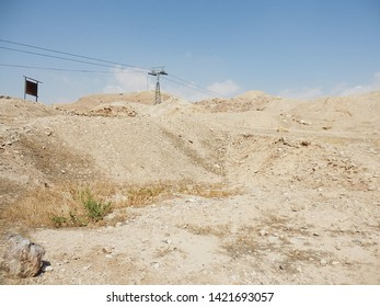 A view of the remains of the original (oldest) building of the city. Jericho, Palestinian Autonomy, Israel.