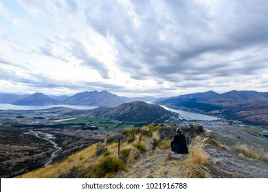 View from The Remarkables in Queenstown at sun set