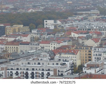 View of residential apartments and buildings in Berllin, Germany