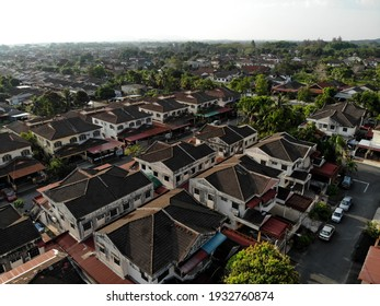 view of the residential area from above