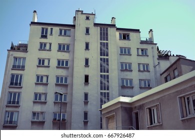 View of a residential building in a Parisian suburb (Vanves)
