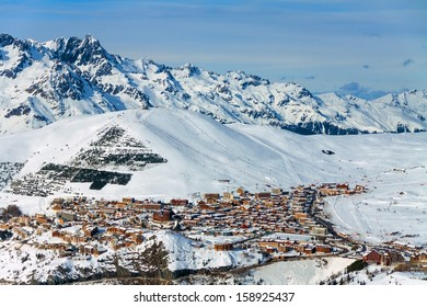 View of the resort Alpe d'Huez