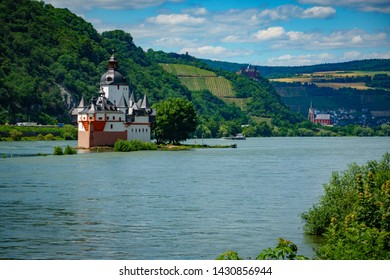 View of the Rhine at Bacharach.