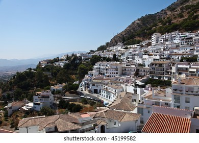 View of Rhonda, White Village, Costa Del Sol, Spain