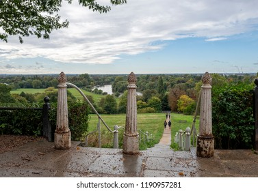 A view of Richmond Hill overlooking the Thames