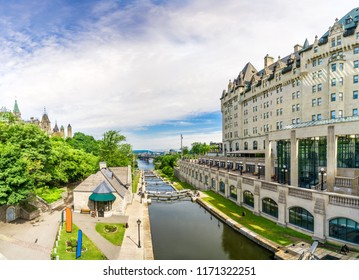 View at the Rideau Canal in Ottawa, Canada