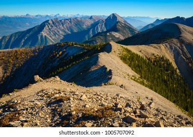 View from ridge line on Pedley Pass near Invermere, British Columbia, Canada