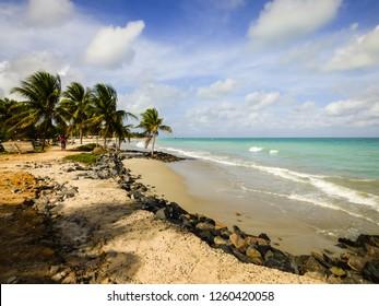 A view of  Rio Ambar Beach on Itamaraca Island (Pernambuco state, Brazil)