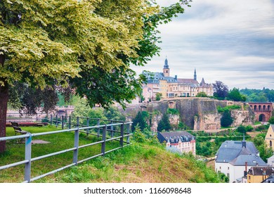 view to River Alzette ,  Luxembourg city