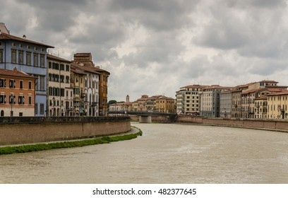 View of river Arno in Pisa - Italy
