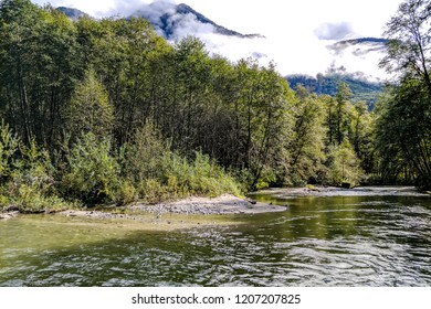 View of the river at Bute Inlet, Vancouver Island, British Columbia