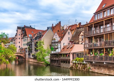 View from the river at the old Nuremberg
