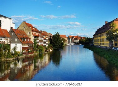 View of the river in Old Town, Bamberg Germany