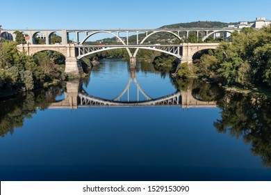 View of the Miño river in Ourense. Galicia, Spain.