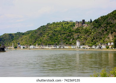 view of the river rhine at the lorelei point
