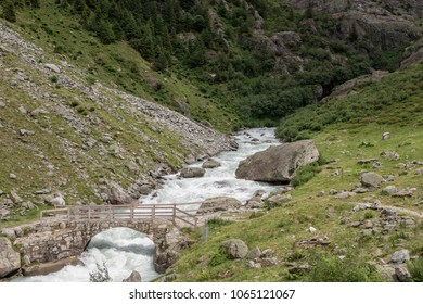 View river scenes in mountains, national park Switzerland, Europe. Summer landscape, sunshine weather, around forest and sunny day. Print poster, image, photo, picture