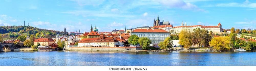 A view of a river Vltava in Prague, Czech republic