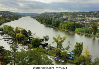 View of river Vltava, Prague, Czech Republic