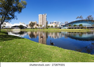 View of the Riverbank Precinct of Adelaide in South Australia in daytime