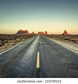 view of road to Monument Valley, USA