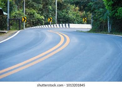 A view of a road in Phu Hin Rong Kla National Park at Phitsanulok Province, Thailand