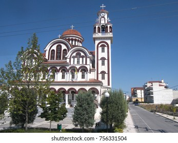view of the roadside church in Greece
