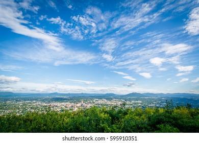 View of Roanoke from Mill Mountain, in Roanoke, Virginia.