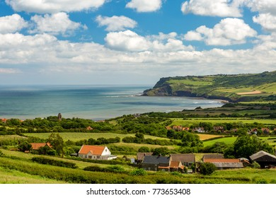 View of Robin Hoods Bay and Ravenscar