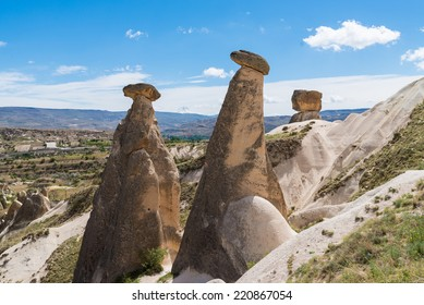 View of rock in Cappadocia, Goreme, Turkey