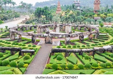 View of Rock Garden at Nong Nooch Garden in Pattaya, Thailand