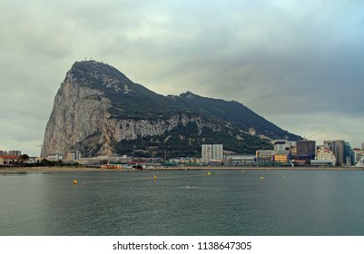 View to the rock of Gibraltar, the british territory