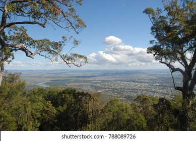 View of Rockhampton from Mount Archer, Australia