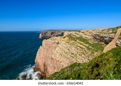 View at the rocks from Cape of Saint Vincent