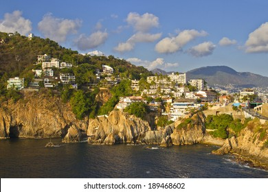 View of rocky coast of Acapulco, Mexico