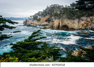 View of rocky coast at Point Lobos State Natural Reserve, in Carmel, California.