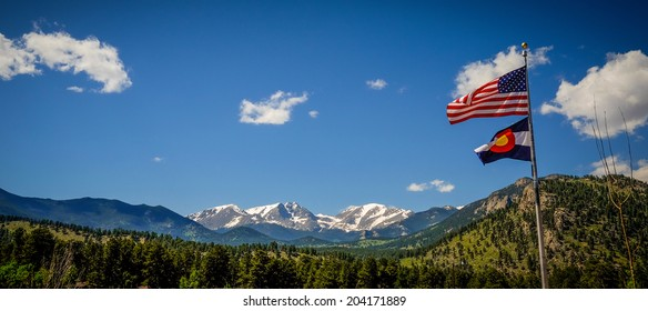 A view of Rocky Mountain National Park from the YMCA of the Rockies.