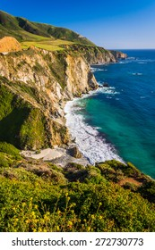 View of the rocky Pacific Coast, in Big Sur, California.
