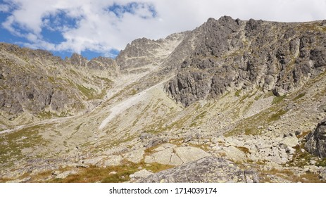 View of rocky peaks in Javor gallery, Great Cold Valley, High Tatras National Park, Slovakia - Shutterstock ID 1714039174