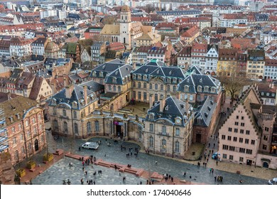 View of Rohan Palace in Strasbourg - Alsace, France