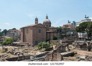 View of the Roman Forum (Italy)