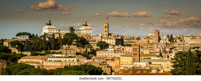 View of rome at the top of a hill