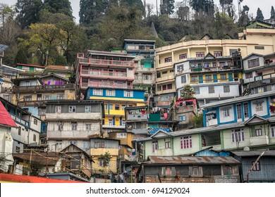 View of roof of Darjeeling city in west bengal ,India