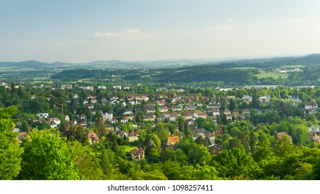 The view at the roofs of Coburg, Germany