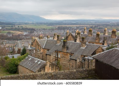 View at the roofs of Stirling, medieval old town in Scotland